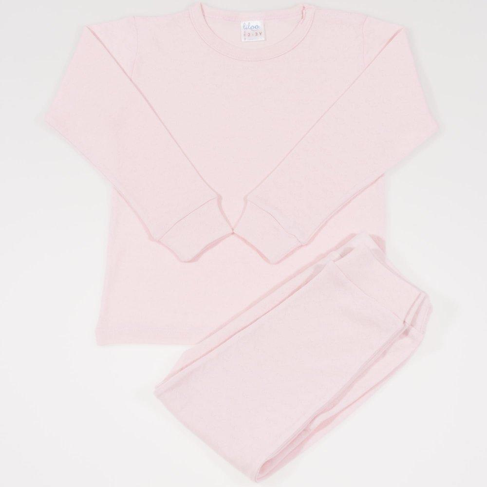 Pijamale bebelusi roz pal - material multistrat premium cu model | liloo