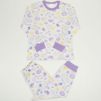 """Pijamale primăvară-toamnă imprimeu model """"Hello Kitty"""""""