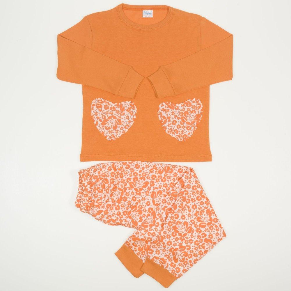 Pijamale primavara-toamna maro imprimeu floral | liloo