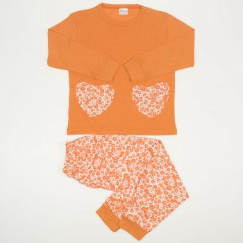 Pijamale primavara-toamna maro imprimeu floral
