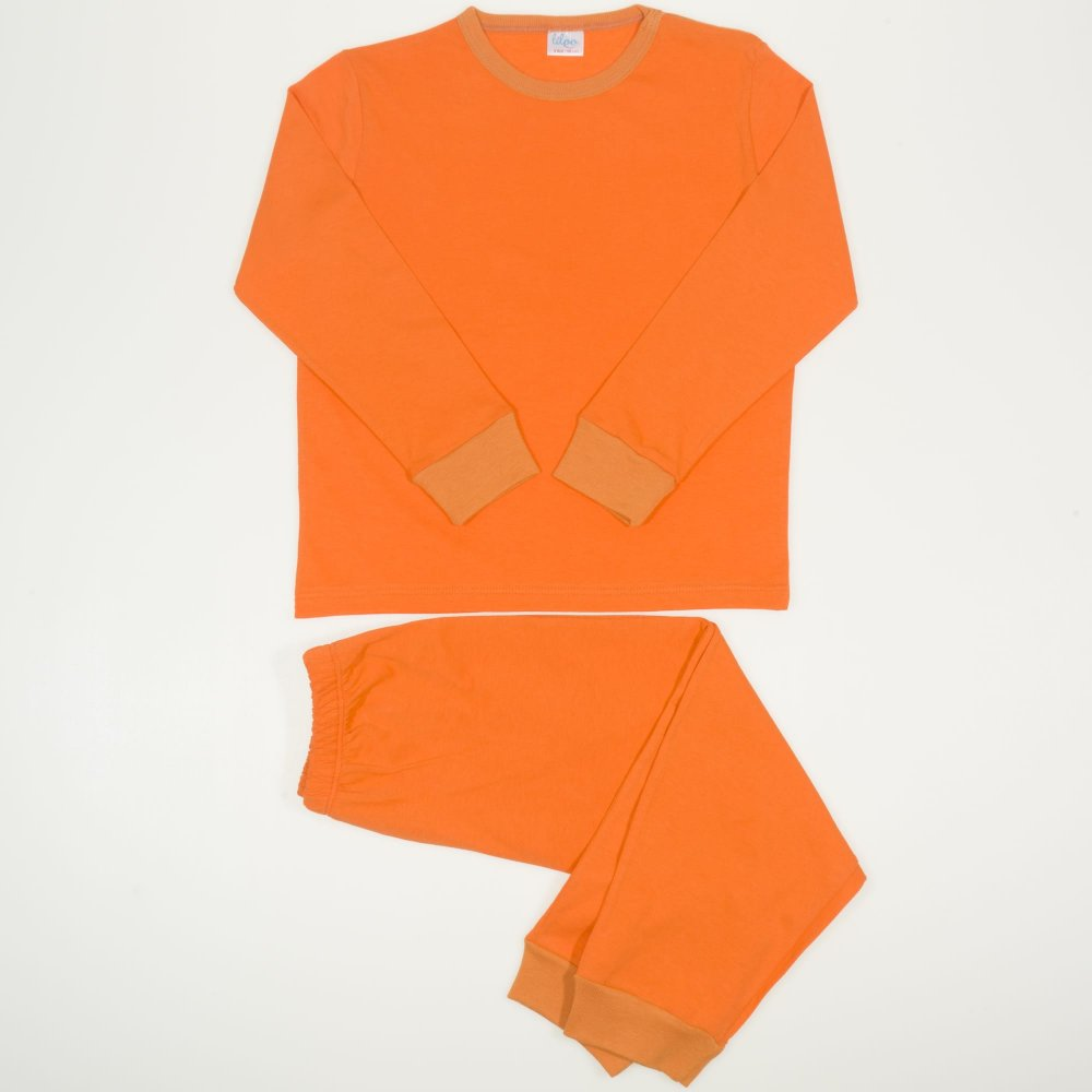 Pijamale primavara-toamna portocalii   liloo