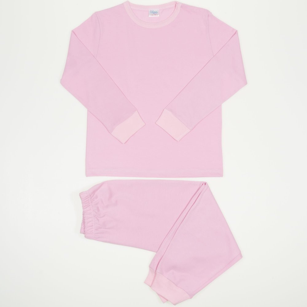 Pijamale primavara-toamna roz uni | liloo