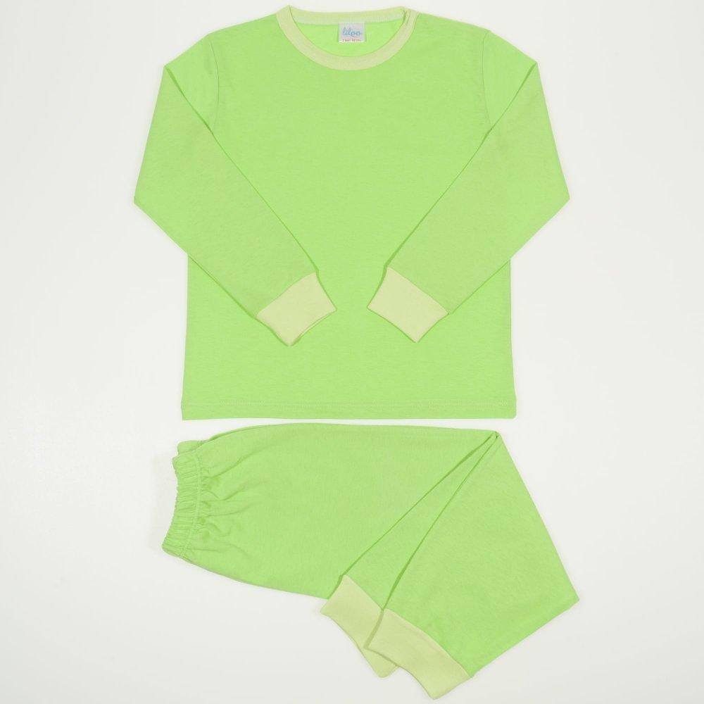 Pijamale primavara-toamna verde lime | liloo
