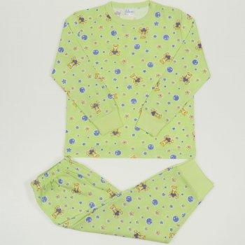 Pijamale primavara-toamna verde lime imprimeu model ursuleti | liloo