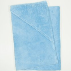 Large premium blue topaz hooded towel