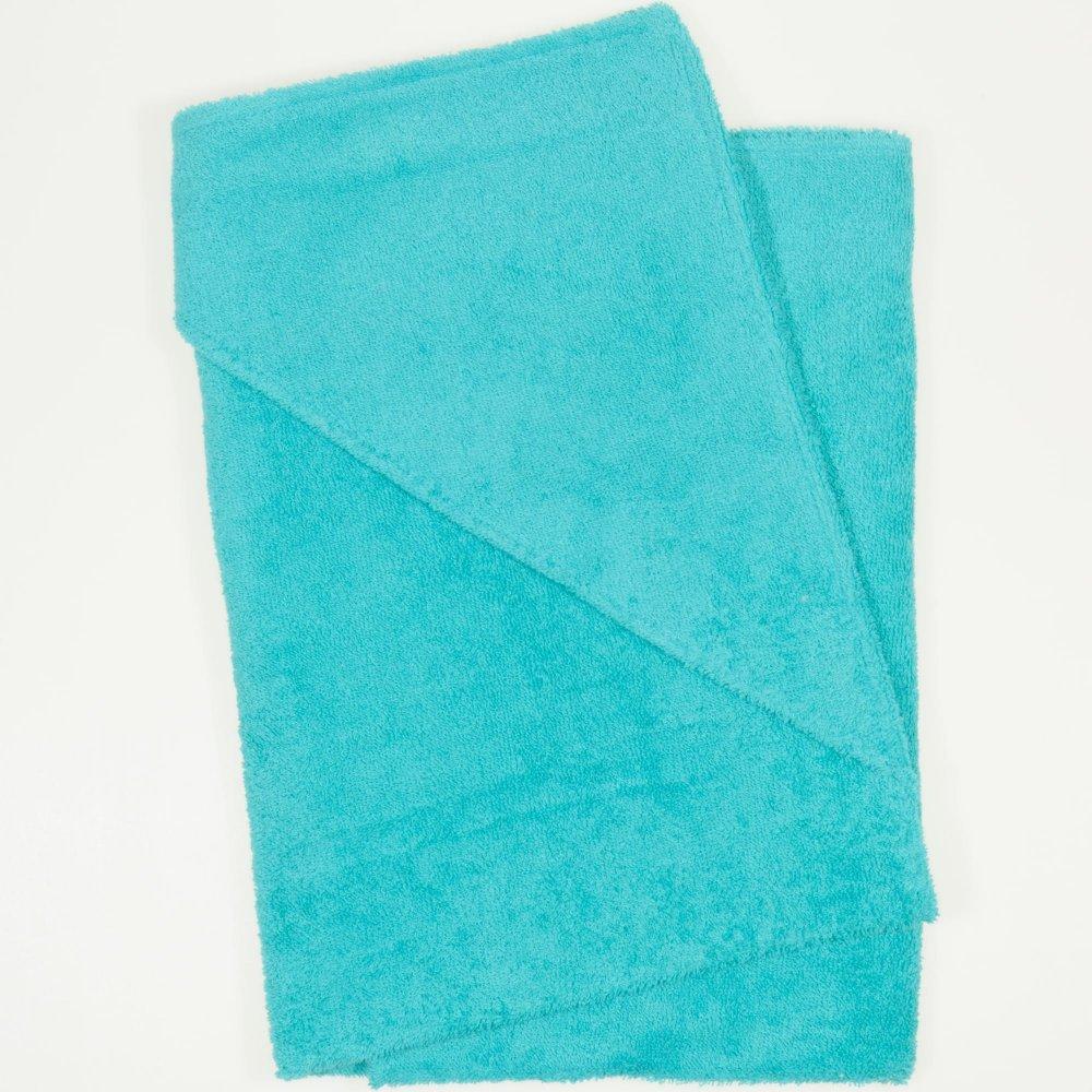 Prosop mic cu gluga - verde inchis-turcoaz | liloo