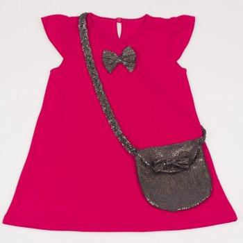 Rochita de vara rosie cu fundita si gentuta | liloo