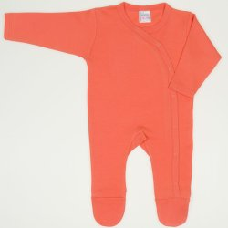 Salmon living coral long-sleeve sleep & play with footies