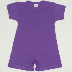 Purple deep lavender romper (short sleeve & pants)