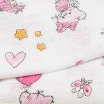 Scutec tetra (bumbac) alb cu imprimeu pisicute și inimioare - lavabil și refolosibil | liloo