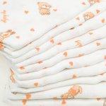 Pachet economic 10 scutece tetra (bumbac) albe cu imprimeu ursuleți - lavabile și refolosibile | liloo