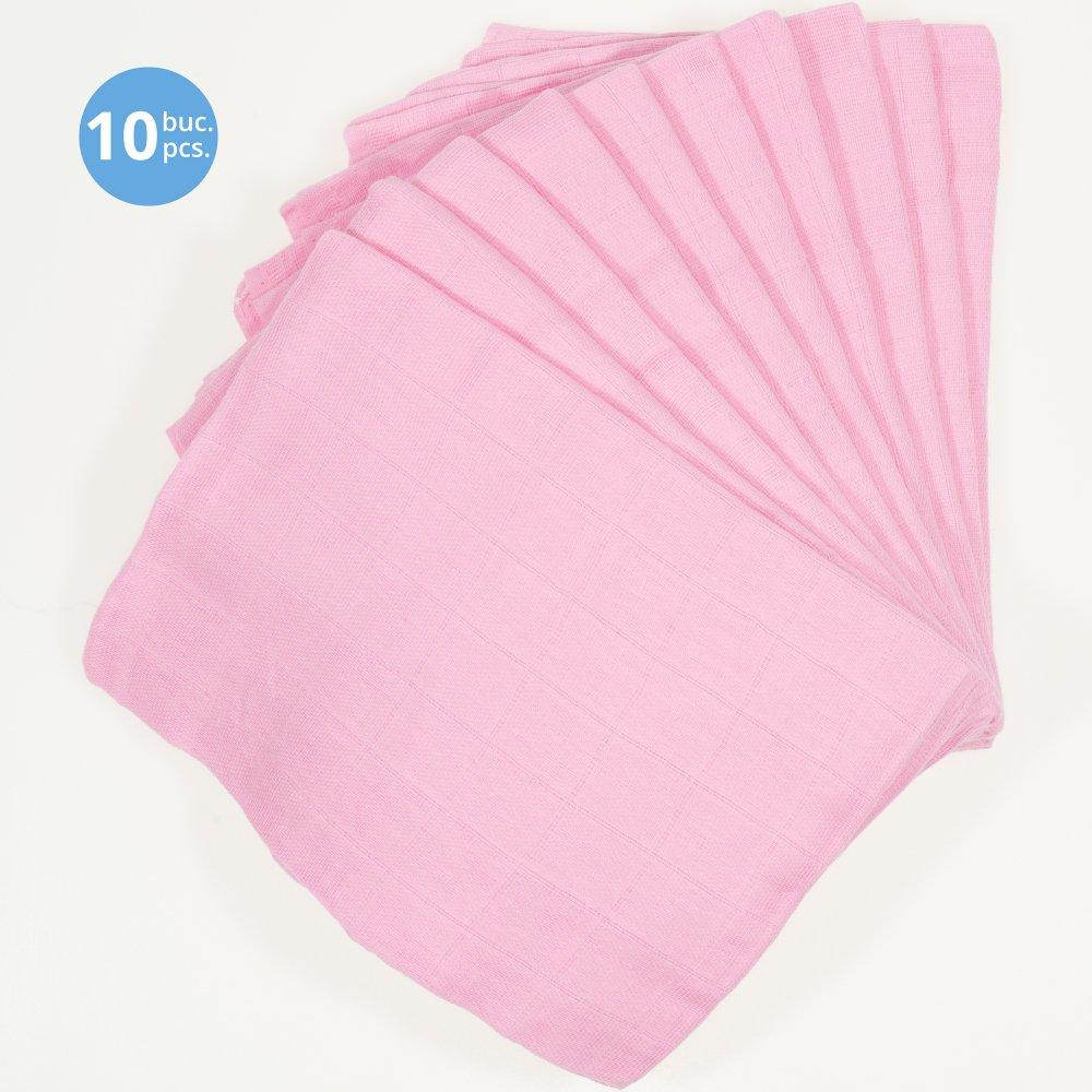 Pachet economic 10 scutece tetra (bumbac) roz - lavabile și refolosibile | liloo