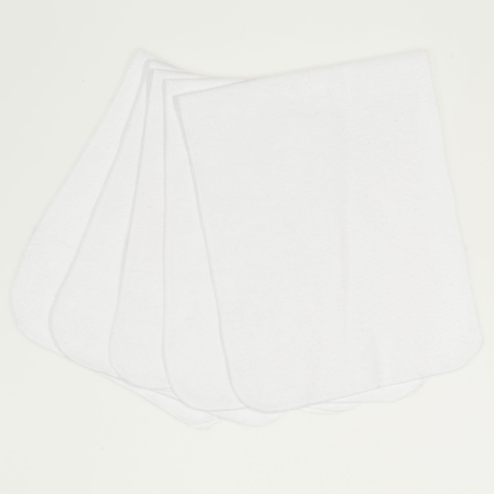 Lavete finet (bumbac) albe-lavabile si refolosibile - set economic 5 bucati | liloo