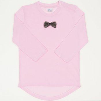 Tricou fetita maneca lunga roz cu fundita | liloo