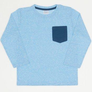 Tricou mânecă lungă azur buzunar bleumarin | liloo