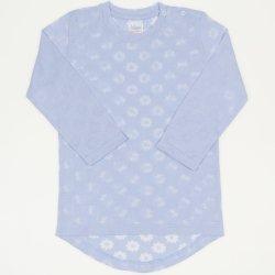 Tricou fetita - maneca lunga azur model floricele