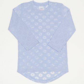 Tricou fetita maneca lunga azur model floricele | liloo