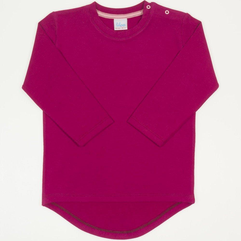 Tricou fetita maneca lunga siclam inchis | liloo