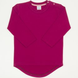 Tricou fetita - maneca lunga siclam inchis