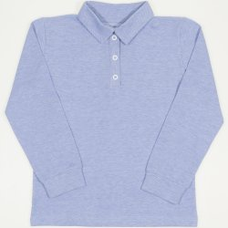 Light blue long sleeve t-shirt polo