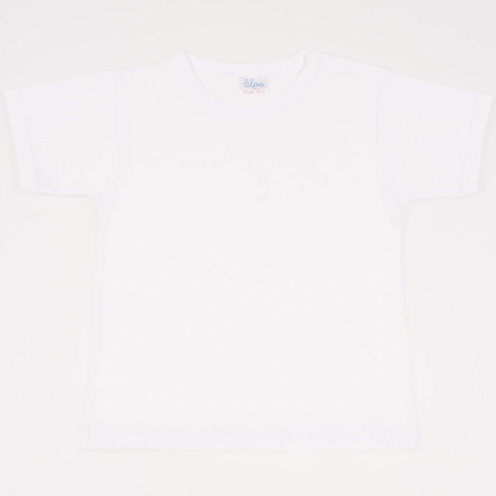 Tricou mânecă scurtă alb | liloo