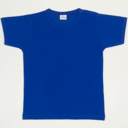Blue short-sleeve tee