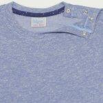 Tricou maneca scurta azur cu bleumarin | liloo