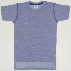 Azure with navy blue short-sleeve tee
