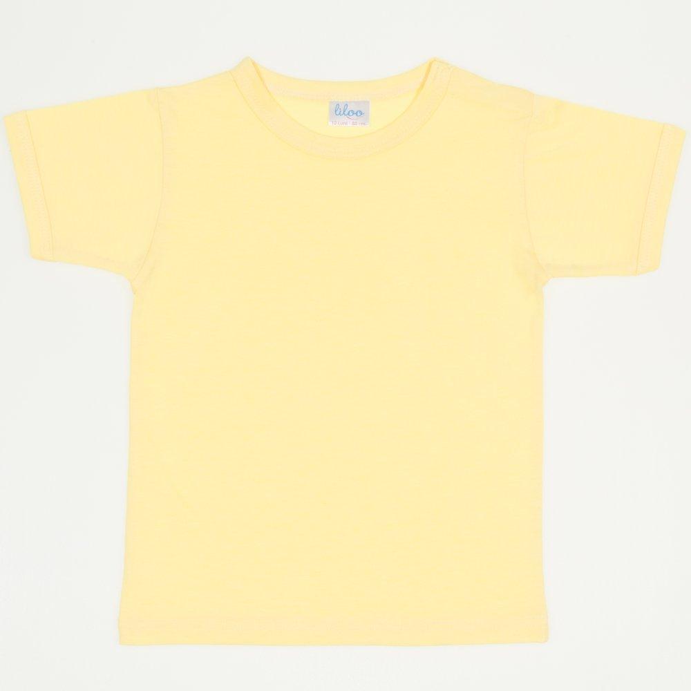 Tricou mânecă scurtă galben | liloo