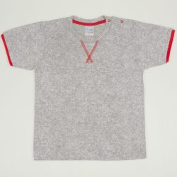 Grey with red short-sleeve tee