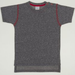 Dark grey with red short-sleeve tee