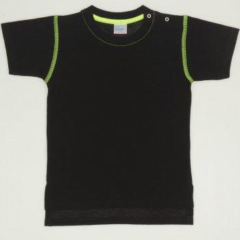 Tricou maneca scurta negru cu verde