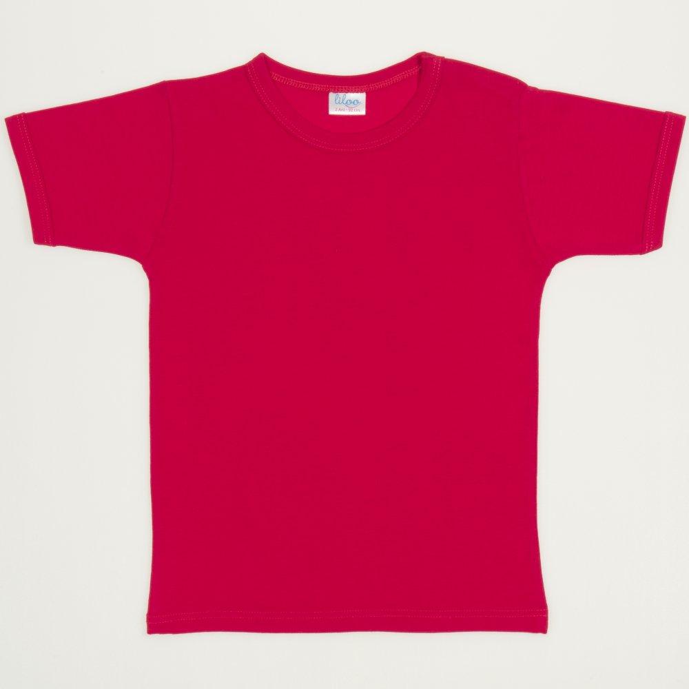 Tricou mânecă scurtă roșu   liloo