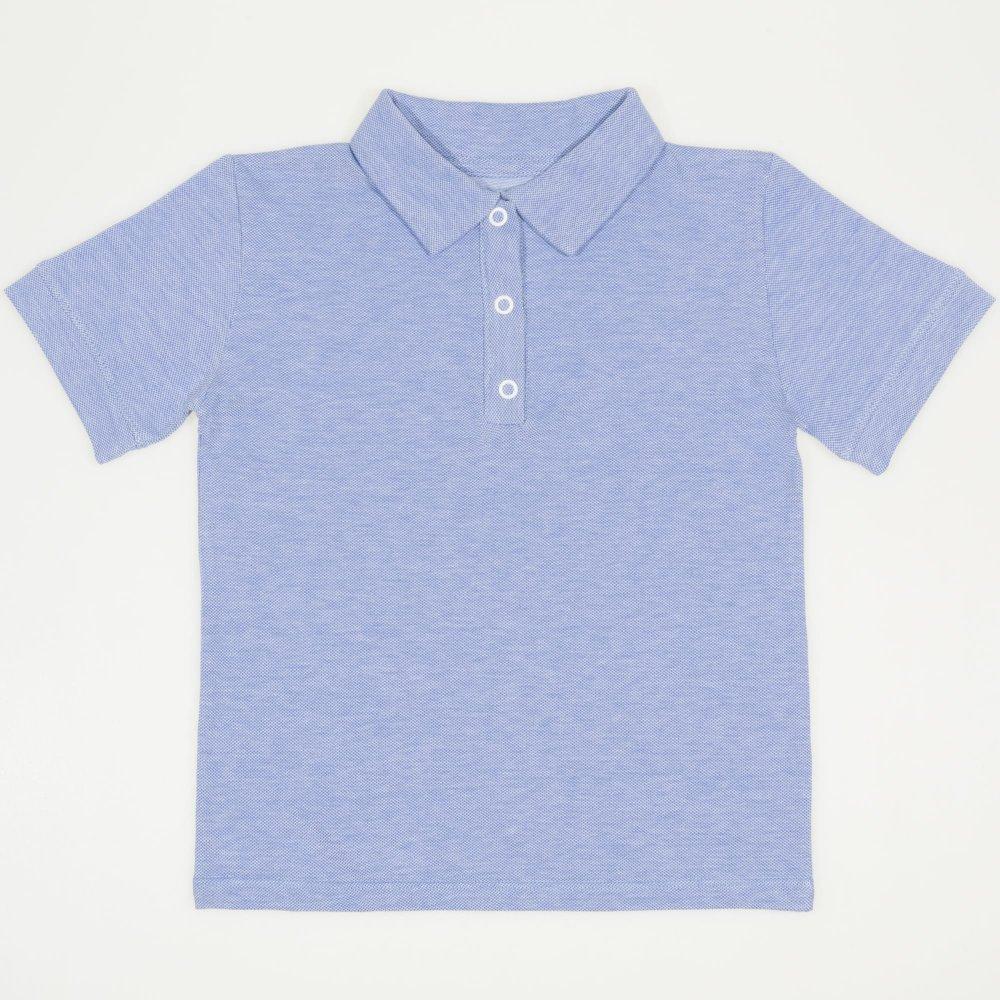 Tricou polo cu maneca scurta copii - model albastru deschis pique | liloo