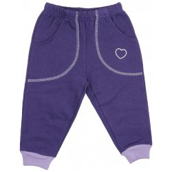 Purple thick joggers with hearts print