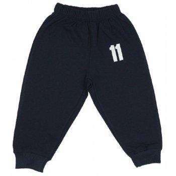 """Pantaloni trening subțiri bleumarin imprimeu """"11"""""""