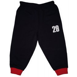 "Navy blue thin pull-on pants with ""29"" print (red cuffs)"