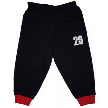 "Pantaloni trening subțiri bleumarin - manșete roșii imprimeu ""29"""