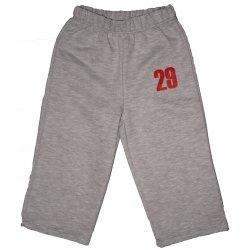 """Pantaloni trening subțiri fără manșetă gri imprimeu """"29"""""""