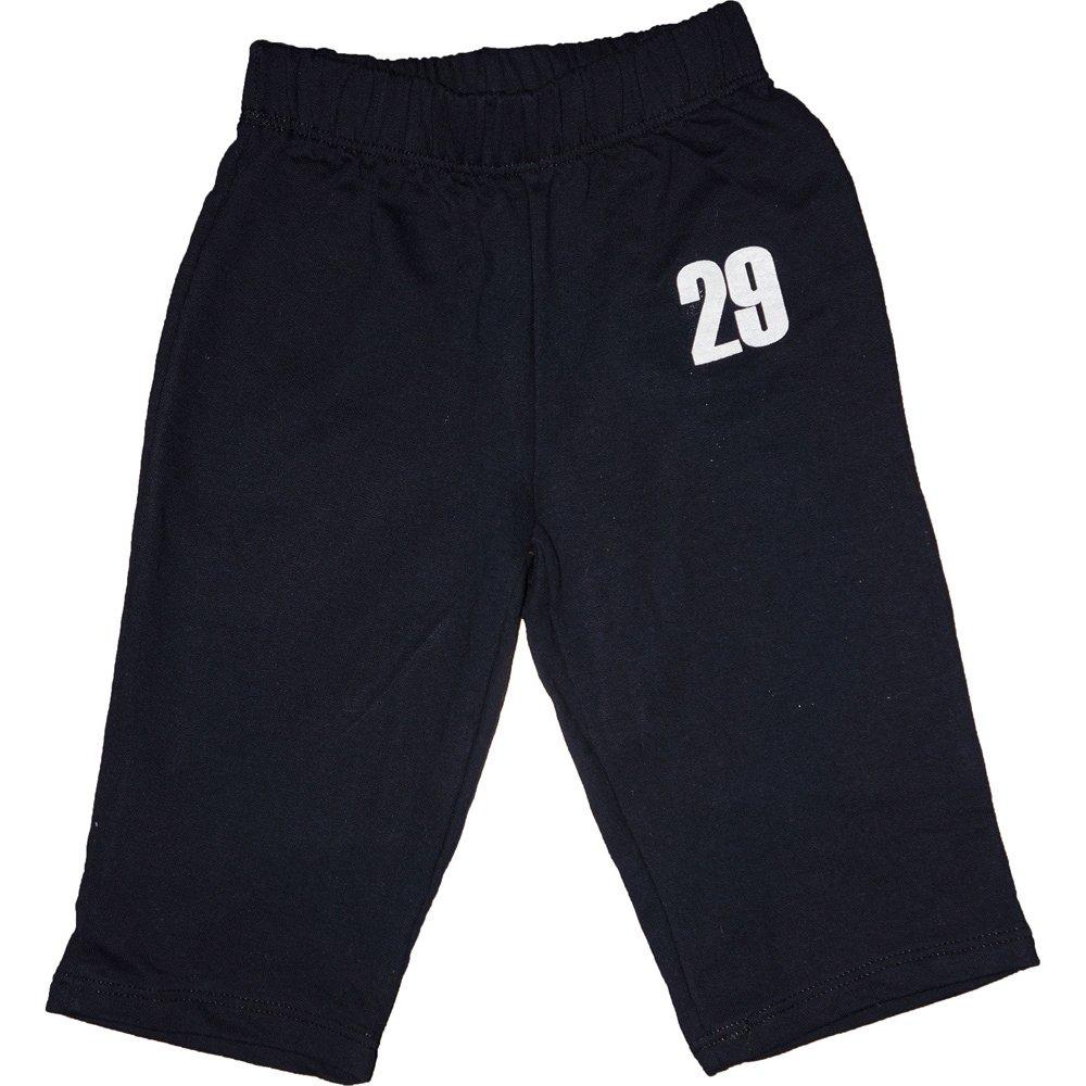 "Pantaloni trening subțiri fără manșetă bleumarin imprimeu ""29"" | liloo"