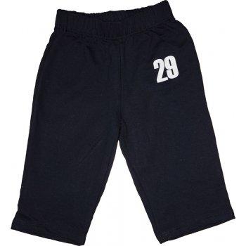 "Pantaloni trening subțiri fără manșetă bleumarin imprimeu ""29"""