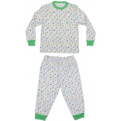 Long-sleeve thick pajamas with allover sea life pattern - fish