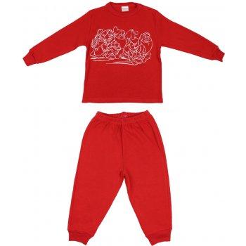 Pijamale groase roșii imprimeu pitici