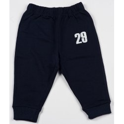 "Navy blue thin pull-on pants with ""29"" print"