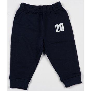 """Pantaloni trening subțiri bleumarin imprimeu """"29"""""""
