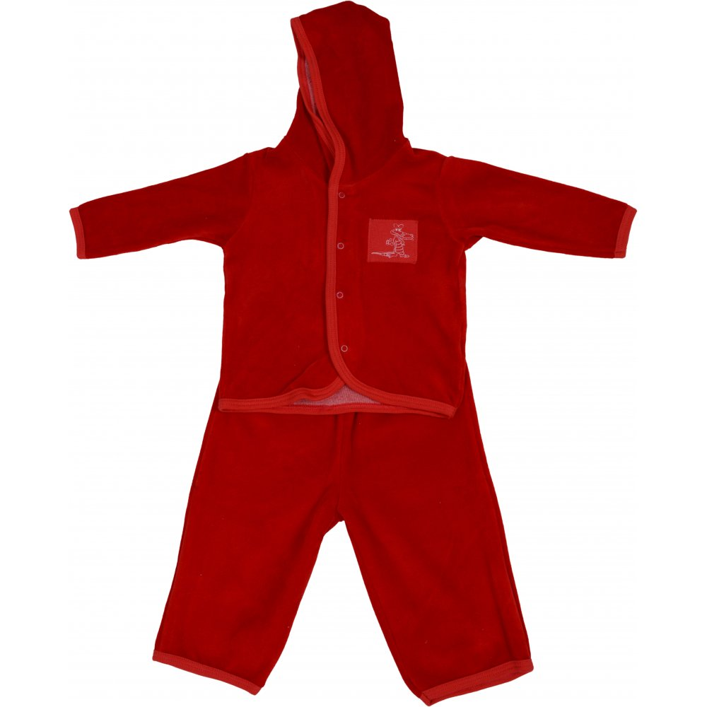 Costum catifea roșu | liloo