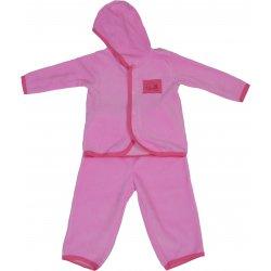 Pink velour baby top & bottom