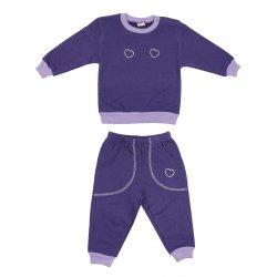 Costum trening gros violet imprimeu inimioare