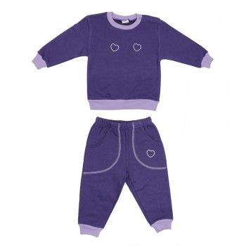 Costum trening gros violet imprimeu inimioare | liloo