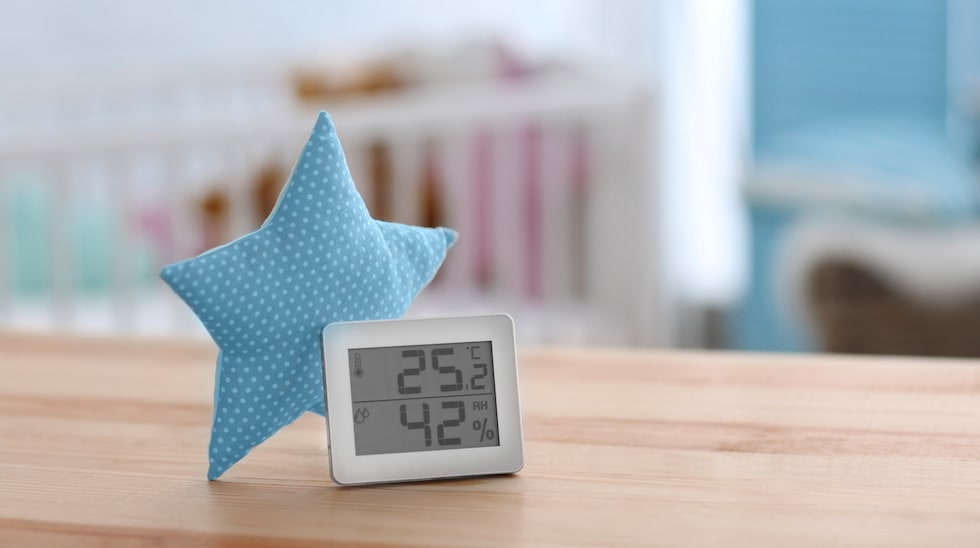 Monitorizeaza umiditatea in camera copilului